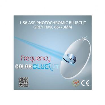 Frequency BlueCut 1.58 ASP HMC ColorBluePhotochromic Grey