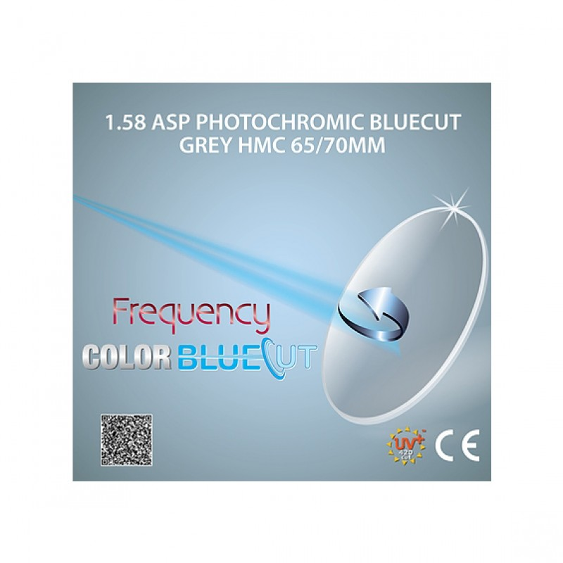 Frequency BlueCut 1.58 ASP HMC ColorBluePhotochromic Grey
