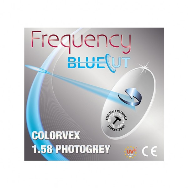 Frequency BlueCut 1.58 ASP SHMC ColorvexPhotochromic Grey