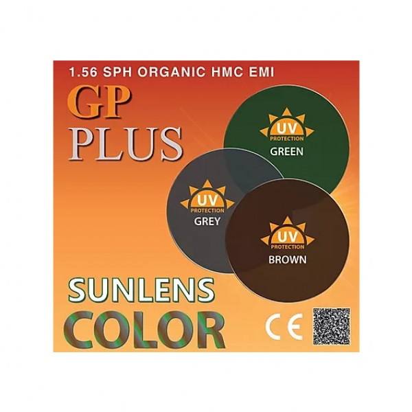 GP Plus 1.56 SPH SunLens Color HMC