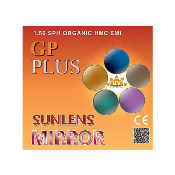 GP Plus 1.56 SPH Sunlens Mirror HMC