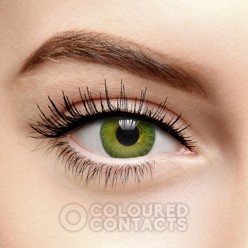 FRESHLOOK COLORBLENDS GEMSTONE GREEN COLOURED CONTACT LENSES
