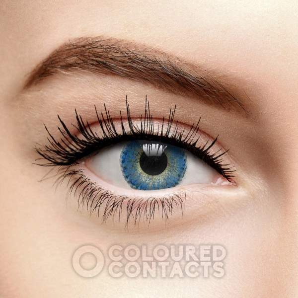 FRESHLOOK COLORBLENDS TRUE SAPPHIRE COLOURED CONTACT LENSES